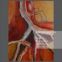 "Bild von Angelika Neumann - ""Roots"" - Acryl - Leinwand - 160 x 120 cm"