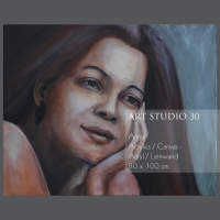 "Bild von Angelika Neumann - ""Angie"" - Acryl - Leinwand - 80 x 100 cm"