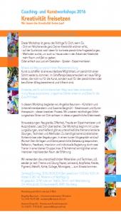Plakat Workshop Kreativitaet freisetzen